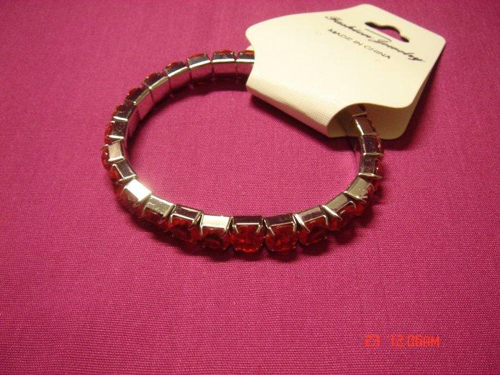 High Quality Simulated Diamond Stretch Tennis Bracelet on Tag