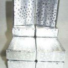 10 Small Silver Foil Cotton Filled Gift Box for Earrings, Ring, Silver Necklace