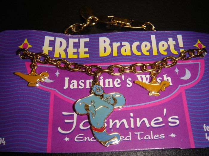 $12.99 Disney Jasmine's Wish Aladdin Gold-Plated Bracelet on Card