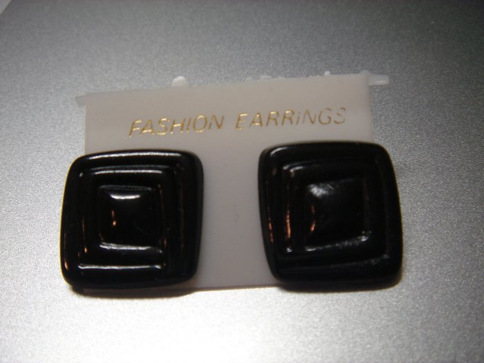 ON SALE**$3 Fashion Black Square Button Studs Earrings**Young Lady Gift