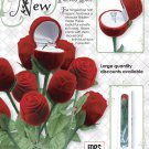 24 Velvet Long Stem Propose/Marriage Anniversary/ Red Rose Jewelry Ring Gift Box