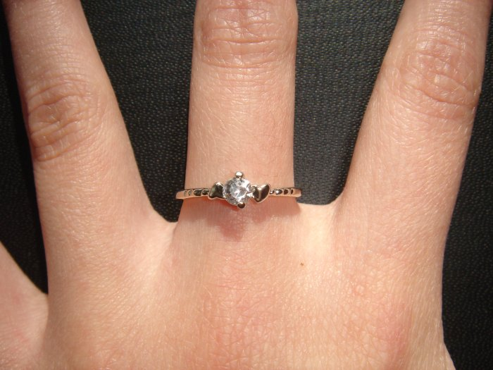 On SALE $18 NEW 925 CZ Cubic Zirconia Silver Ring Gift*+FREE BOX*