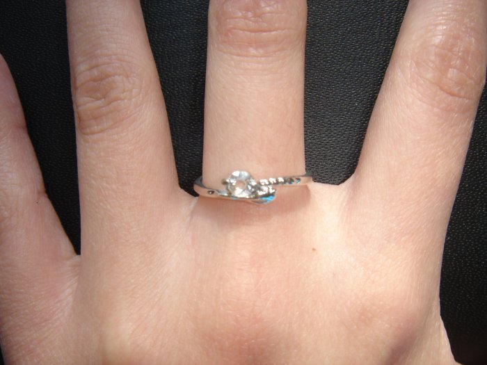 On SALE $30 NEW 925 CZ Cubic Zirconia Silver Ring Gift*FREE BOX*
