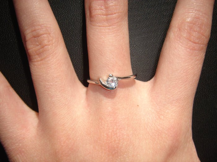 On SALE $15 NEW 925 CZ Cubic Zirconia Silver Ring Gift*FREE BOX*