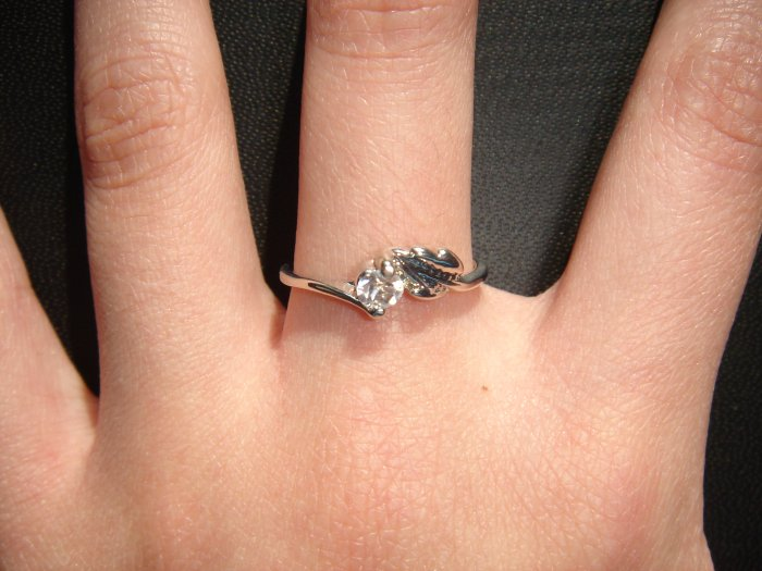 On SALE $20 NEW 925 CZ Cubic Zirconia Silver Ring Gift*FREE BOX*