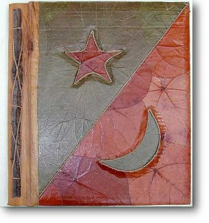 Leaf Photo Album from Bali-Star Moon #5-Large Size