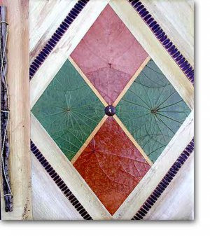 Leaf Photo Album from Bali-Geometric B #46-Large Size