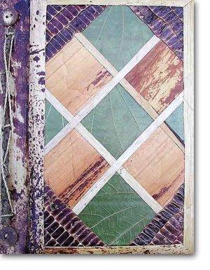 Leaf Photo Album from Bali-Geometric C #57-Large Size