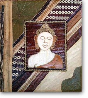 Leaf Photo Album from Bali-Buddha #108-Large Size