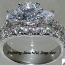 3.75 CT MAGNIFICENT ENGAGEMENT RING SET * Size 7 * NEW*