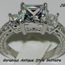 1.75 CT VINTAGE STYLE ENGAGEMENT SOLITAIRE*Sz 7 * NEW*
