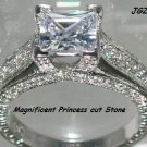 2.5 CT ANTIQUE STYLE ENGAGEMENT SOLITAIRE RING * Sz 7 *