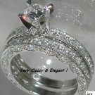 MAGNIFICENT 5.9CT VICTORIAN BRIDAL SET *Sz. 7 * NEW*