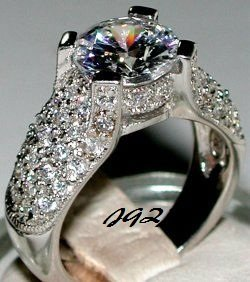 2.50ct Round Brilliant cut Sterling Silver Cocktail Ring * Sz 5,6,7,8,9 * Exclusive *