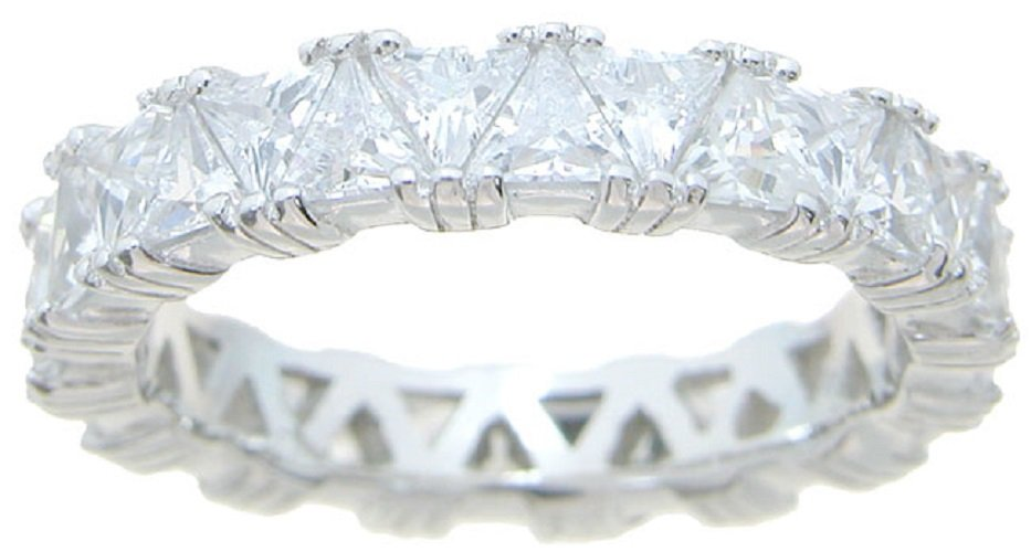 2.75 CT Trillion cut Anniversary - Eternity Band * Absolutely Gorgeous * Size 5,6,7,8,9 *