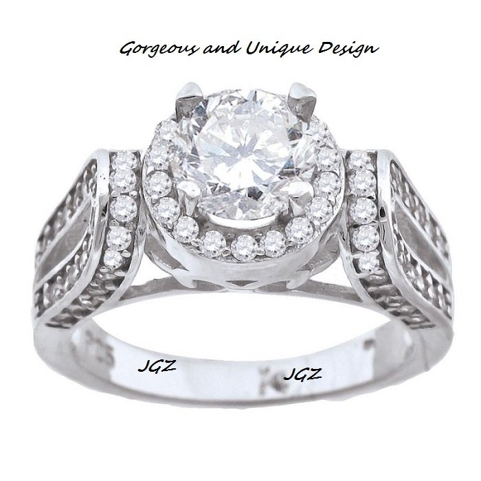 Gorgeous Engagement Solitaire Ring *sz 7* Solid .925 Sterling Silver *NEW *