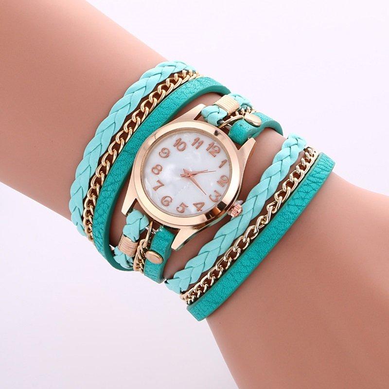 Wrap around Teal wrist watch - Bracelet style * FREE Shipping*