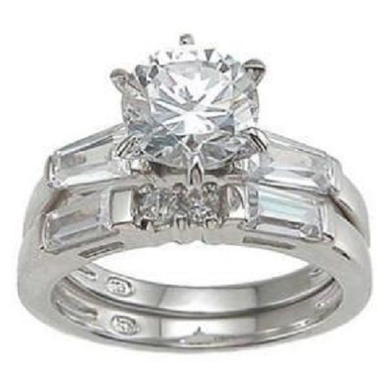 Engagement/Wedding set * 2.5 ct Round Brilliant cut * Size 5,6,7,8,9 * Very Elegant *