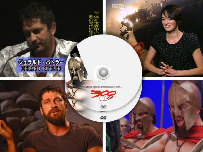300 movie - PRESS KIT & PROMOS Frank Miller Gerard Butler, 2 DVD set
