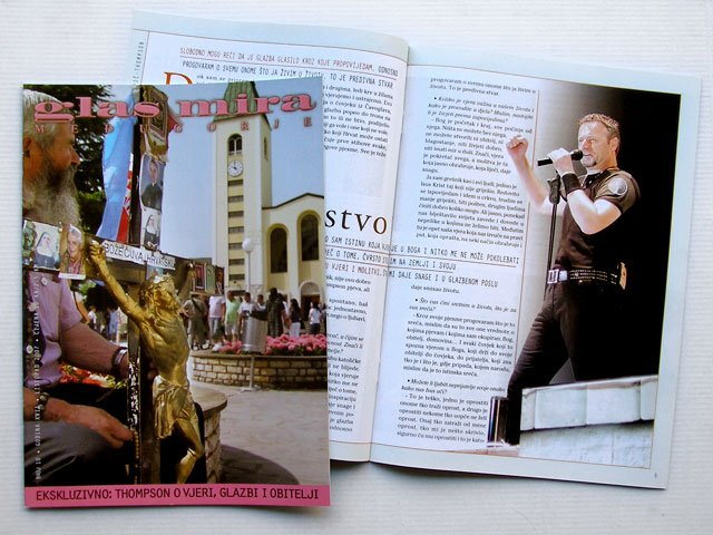 Glas Mira Medjugorje Croatian magazine MARKO PERKOVIC THOMPSON exclusive interview
