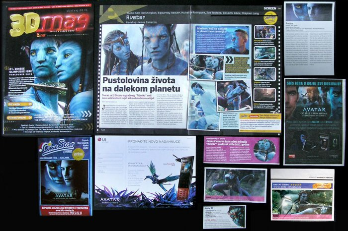 Clippings magazine CROATIA movie program James Cameron AVATAR rare