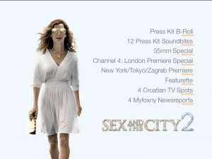 Sex and the City 2 PRESS KIT & TV PROMOS DVD + Photo CD Sarah Jessica Parker, Kim Cattrall