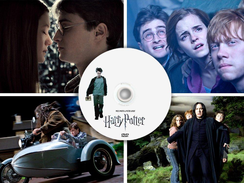 Harry Potter 270+ PRESS photos & poster - 10 rare promo CD collectible , movie program