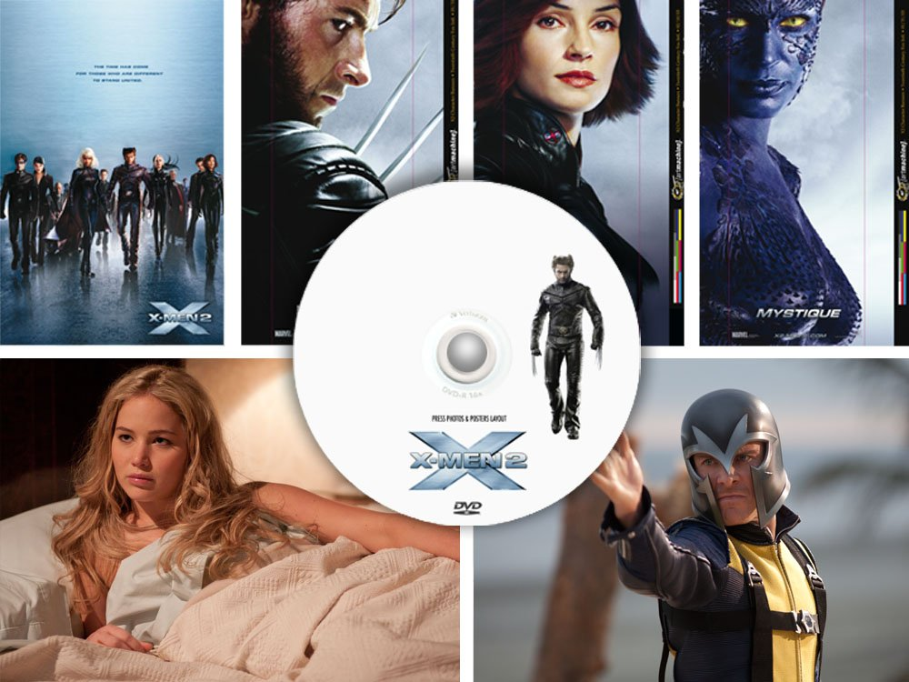 X-Men 2 + 3 + First Class PRESS PHOTOS & POSTER promo DVD, January Jones