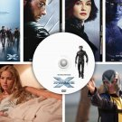 X-Men 2 + 3 + First Class PRESS PHOTOS & POSTER promo DVD, January Jones