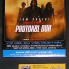 MOVIE PROGRAM + TICKET stub + PRESS Photo Croatia, Mission Impossible Ghost Protocol promo