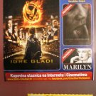 MOVIE PROGRAM + TICKET stub  + digital PRESS photo set Croatia, The Hunger Games promo