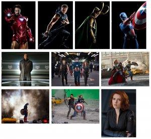 The Avengers - 10 glossy PRESS PHOTOS Scarlett Johansson, Jeremy Renner
