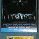 Movie PROGRAM + TICKET stub Croatia, Prometheus (Alien prequel) promo Charlize Theron