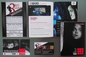 Third Man - museum tour promo booklet ticket, Vienna Dritte Mann Orson Welles, Carol Reed