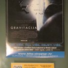 MOVIE PROGRAM + TICKET stub Croatia, Gravity, Sandra Bullock George Clooney promo