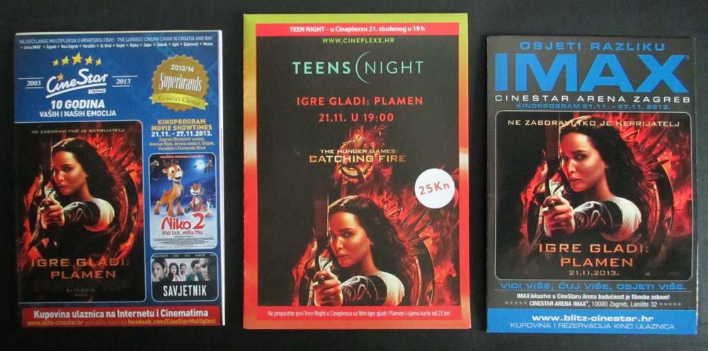 MOVIE PROGRAM Croatia, The Hunger Games: Catching Fire promo, Jennifer Lawrence