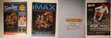 Croatian 4DX movie PROGRAM + TICKET stub promo The Hobbit The Desolation of Smaug