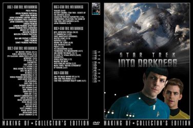 4 DVD set, Star Trek Into Darkness TV PROMO 5 hrs Unreleased extras, deleted scenes