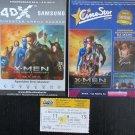 MOVIE PROGRAM + TICKET stub Croatia, X-Men Days of Future Past, Hugh Jackman promo