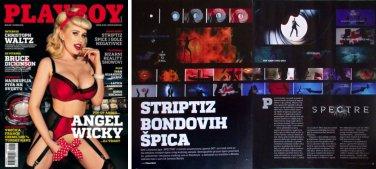 Playboy SPECTRE James Bond sexy nude girls magazine clippings program ticket 007 promo collectible