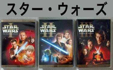 JAPAN import DVD editions Star Wars trilogy Episode I-III
