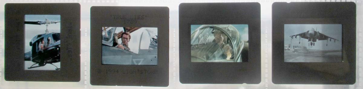 4 PRESS 35mm slides transparencies True Lies Schwarzenegger James Cameron collectible promo