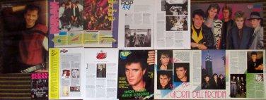 ITALY, UK 13 magazine clippings, 2 posters, Duran Duran, Arcadia, John Taylor, Simon LeBon