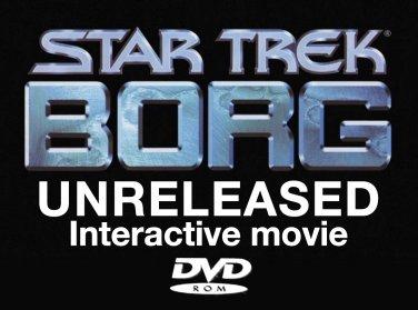 NOT a PC game! UNRELEASED Japan Star Trek Borg interactive DVD movie John de Lancie Rare collectible
