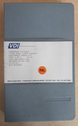Star Trek First Contact EPK Video Press kit Betacam SP broadcast tape promo collectible