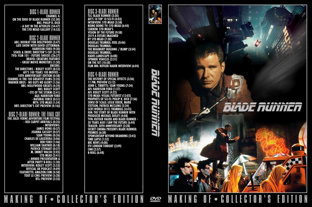 NEW 6+ hrs UNRELEASED promo Blade Runner 4 DVD documentaries collectible videos Harrison Ford
