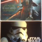 2 official Star Wars lenticular 3D plastic table mat placemat Stormtrooper & Kylo Ren made in EU