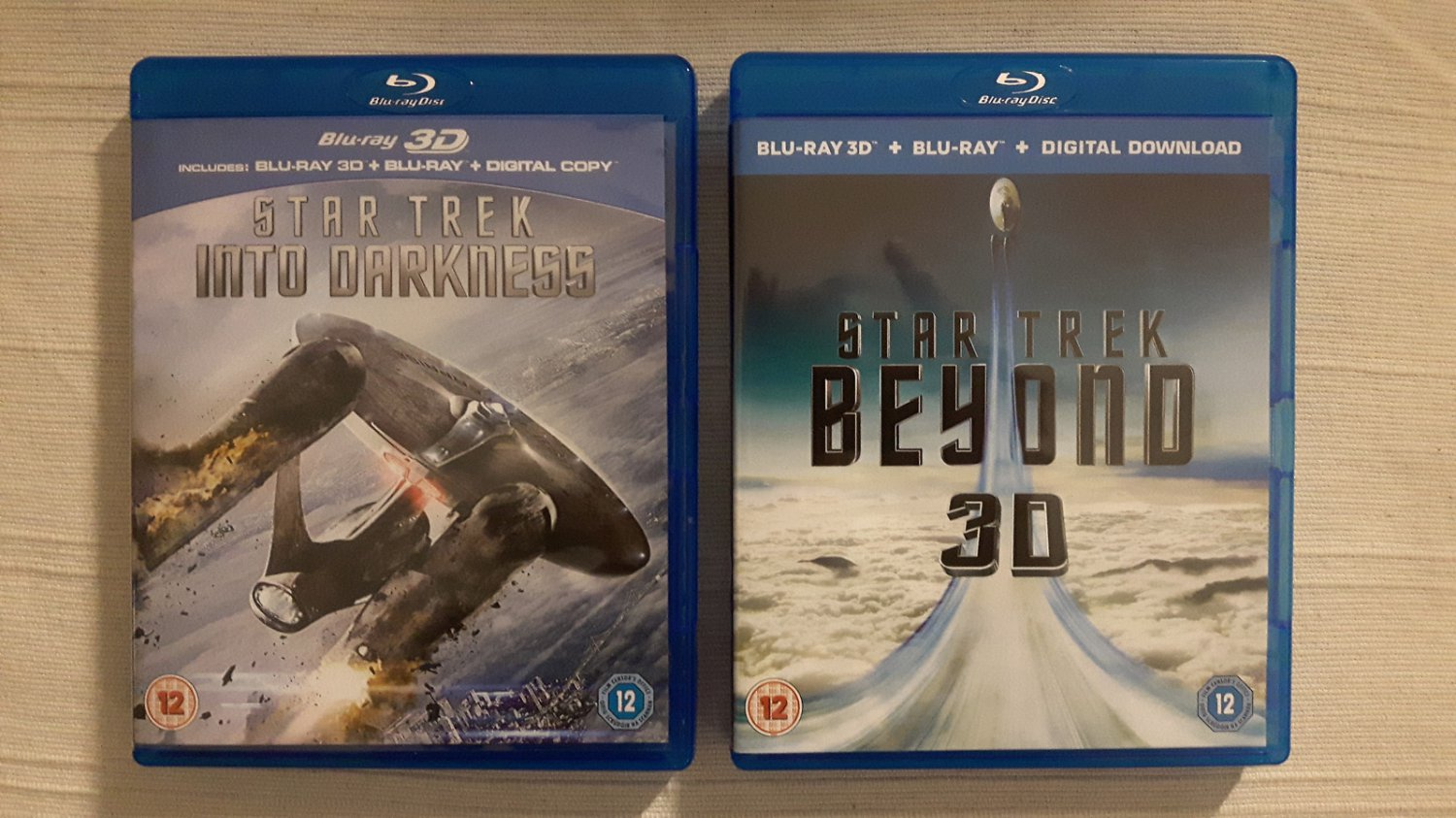 2x UK Blu-ray Star Trek Into Darkness & Beyond, 2D film & extras only (no 3D!)