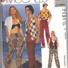 McCALL'S 7131 UNISEX LINED VEST,SHIRT,PULL-ON PANTS SIZE XLG 42-44, XXLG-46-48