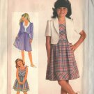 SIMPLICITY 6768 GIRL'S EASY TO SEW DRESS AND UNLINED JACKET SZ 10-12-14 UNCUT